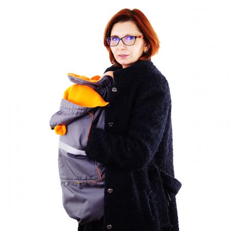Protecție Iarnă cu Urechi - Gri/Orange3