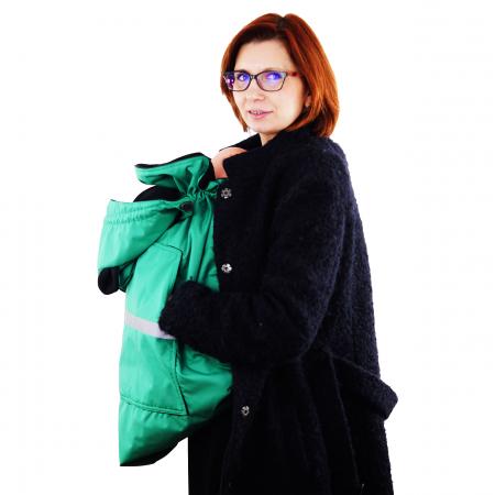 Protecție Iarnă cu Urechi - Light Verde/Negru3