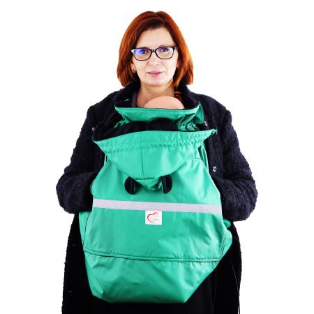 Protecție Iarnă cu Urechi - Light Verde/Negru2