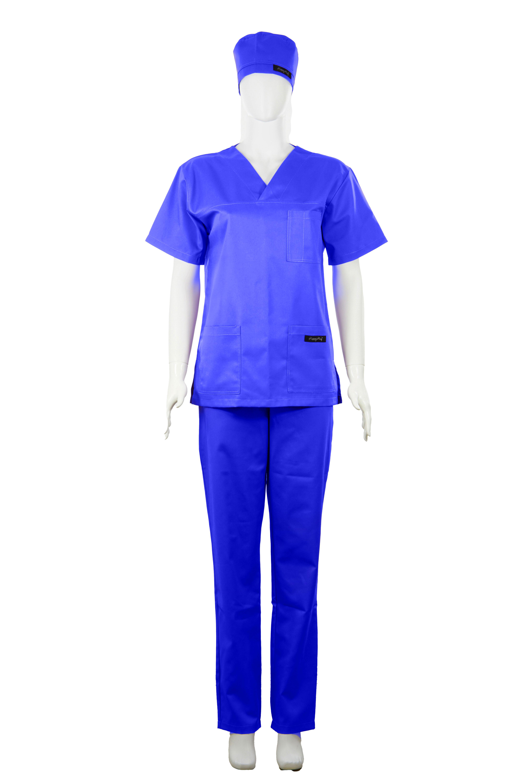 Costum Medical Unisex albastru 2XL 2XL 1