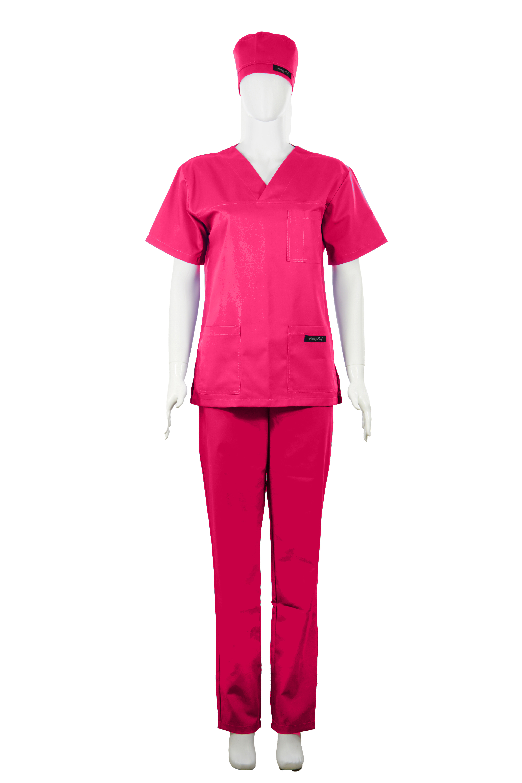 Costum Medical Unisex ciclam 2XL 2XL 1