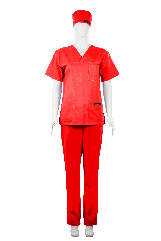 Costum Medical Unisex rosu 2XL 2XL 1