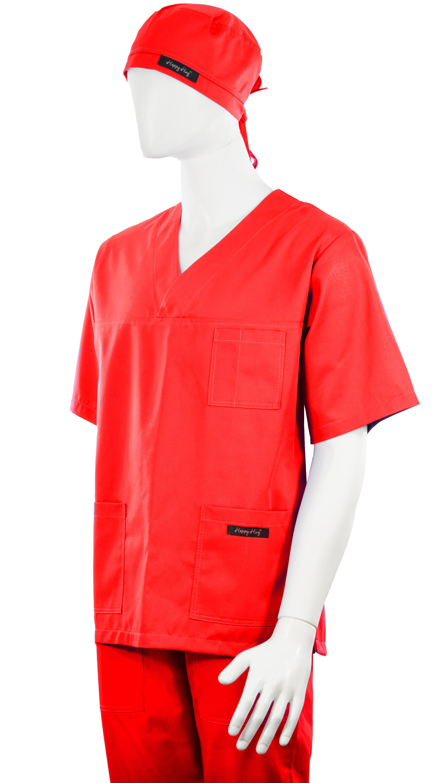 Costum Medical Unisex rosu 2XL 2XL 3
