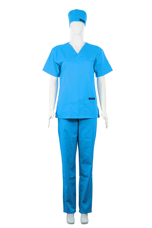 Costum Medical Unisex turcoaz 1
