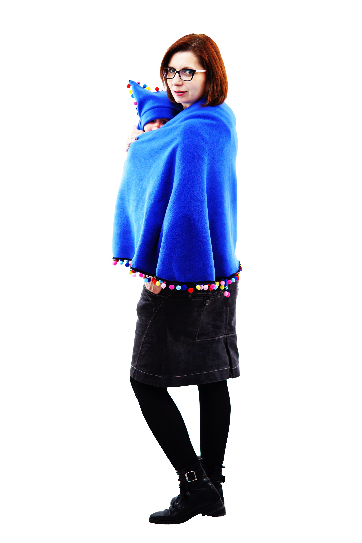 Poncho Albastru/Multicolor 1