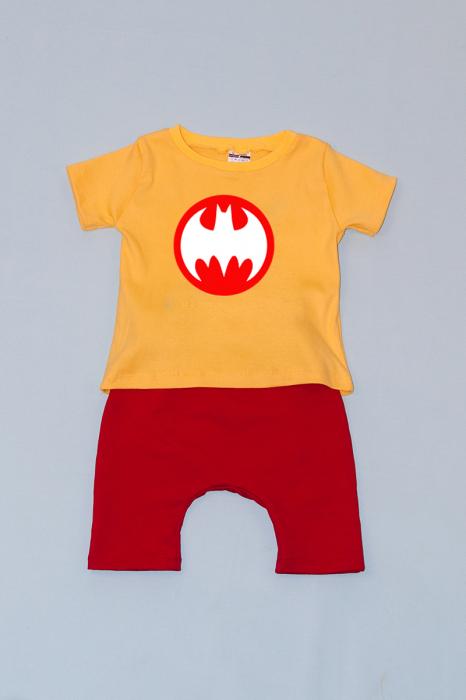 Compleu Tricou cu Pantalon Baggy Rosu Batman 0