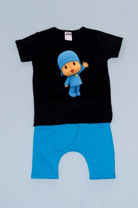 Compleu Tricou cu Pantalon Baggy Albastru Pocoyo [0]