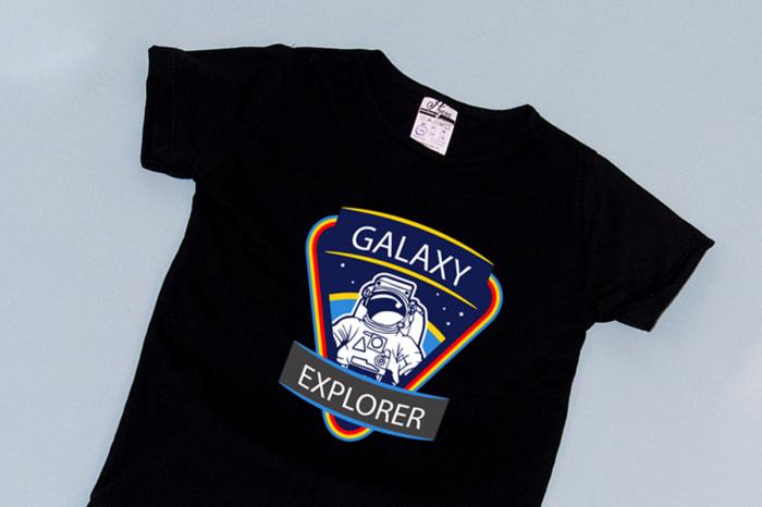 Compleu Tricou cu Pantalon Baggy Albastru Galaxy Explorer 1