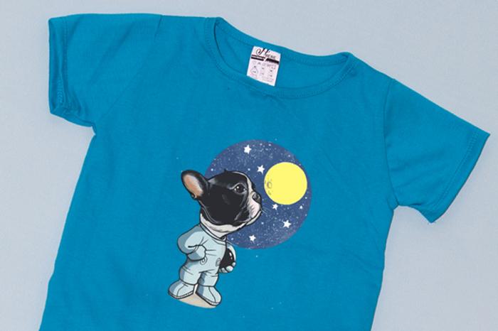 Compleu Tricou cu Pantalon Baggy Negru Moon Dog [1]