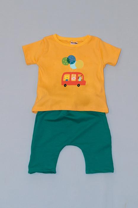 Compleu Tricou cu Pantalon Baggy Verde Car 0