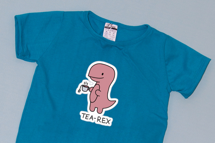 Compleu Tricou cu Pantalon Baggy Roz TeaRex 1