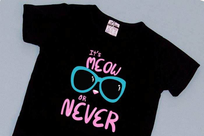 Compleu Tricou cu Pantalon Baggy Roz MeOW or Never 1