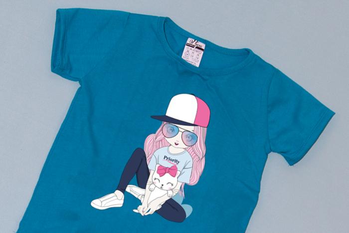 Compleu Tricou cu Pantalon Baggy Roz Cool Girl [1]