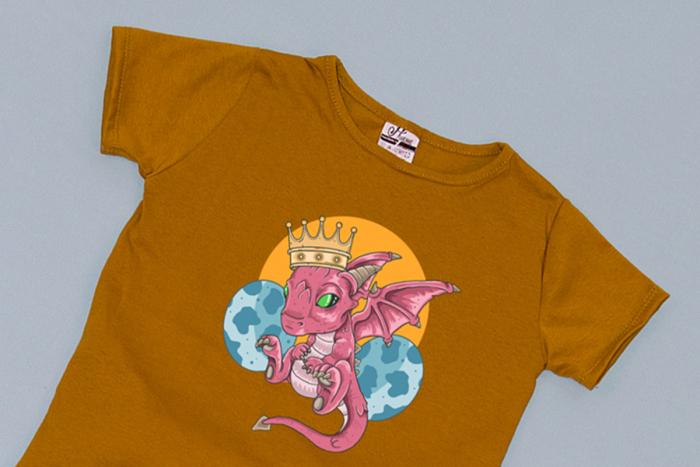 Compleu Tricou cu Pantalon Baggy Roz Mother of Dragons 1