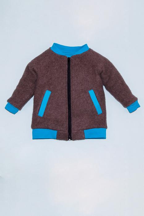 Jacheta din lana fiarta - Brown [0]