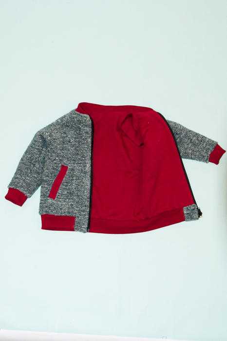 Jacheta lana - Gri Bucle 2