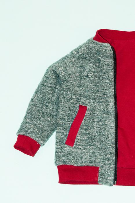 Jacheta lana - Gri Bucle 1
