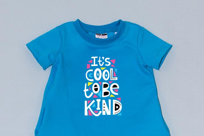 Rochie cocon albastra cu maneca scurta - Cool To Be Kind 1