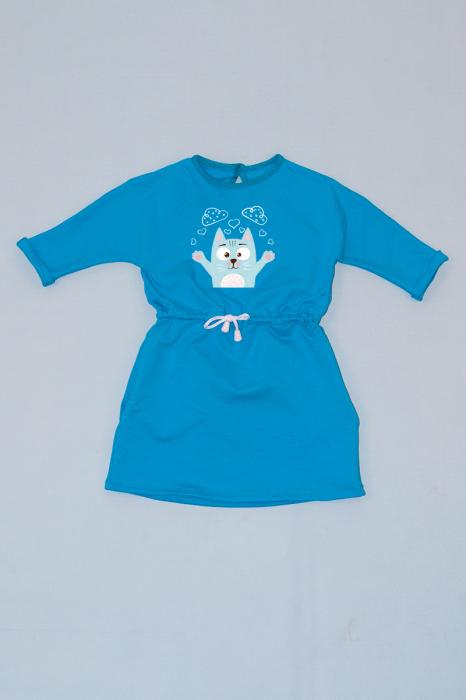 Rochie cu șnur în talie albastră - Pisicuță [0]