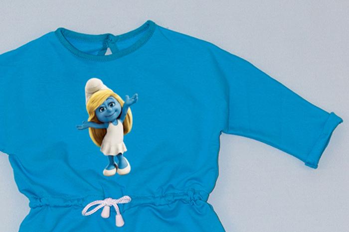 Rochie cu șnur în talie albastră - Ștrumfița 1