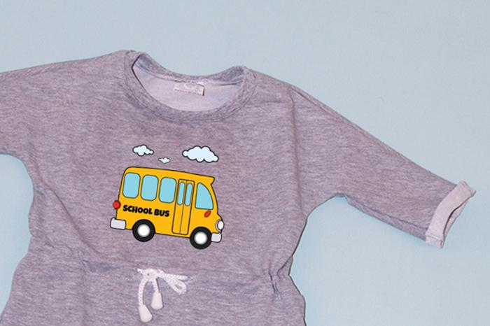Rochie cu șnur în talie gri - Bus 1