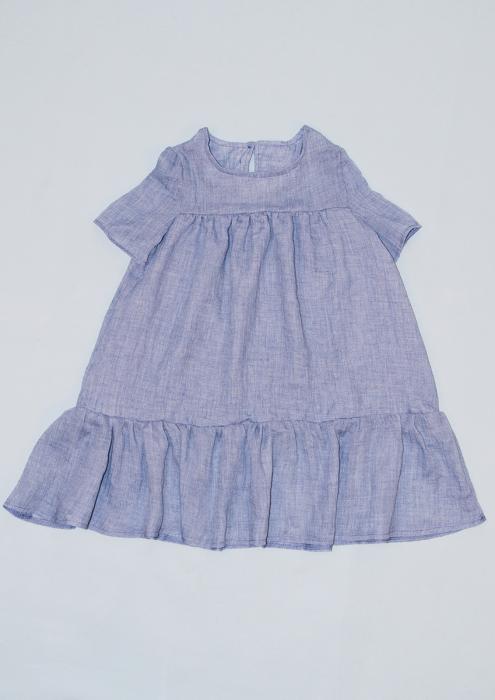 Rochie din pânză de In - Gri [0]