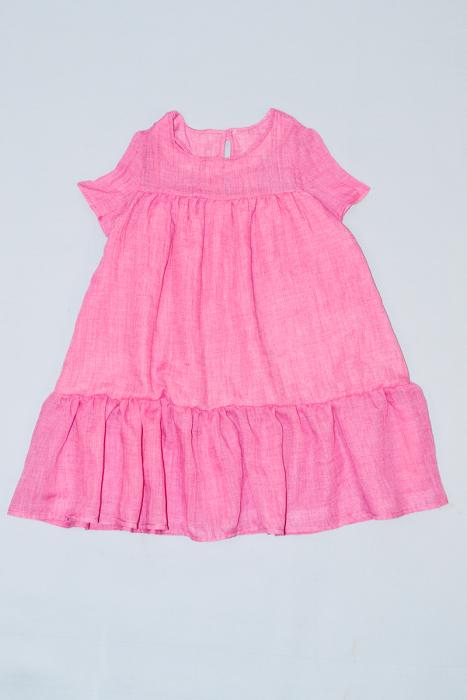 Rochie din pânză de In - Roz [0]