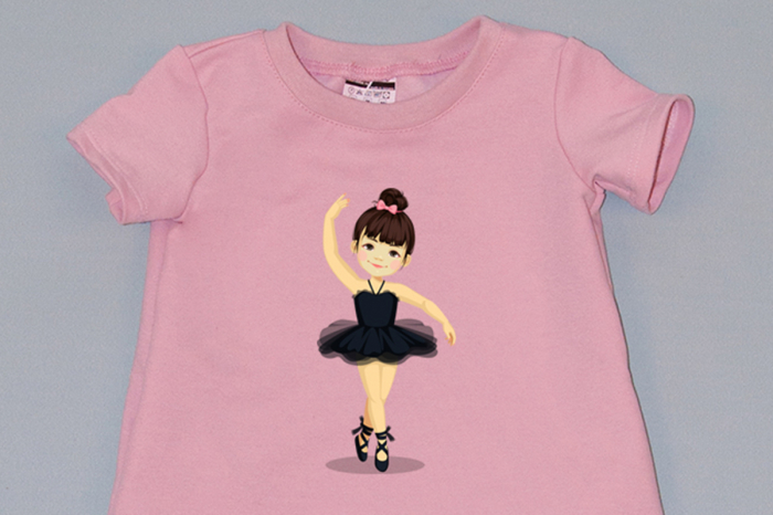 rochie cocon roz cu maneca scurta balerina 1