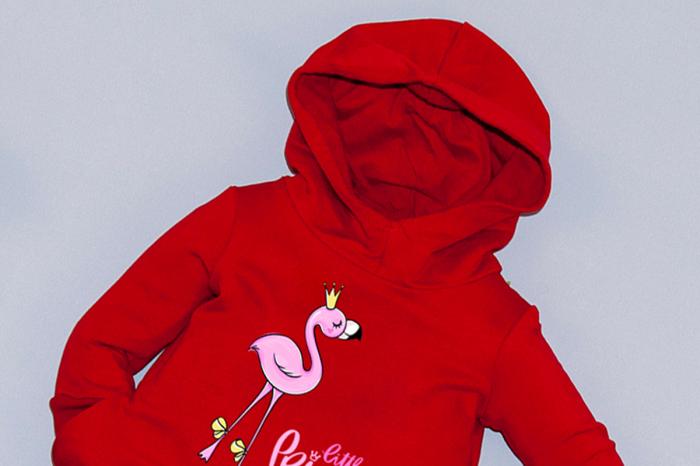 Rochie roșie cu glugă - Little Princess 1