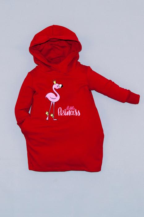 Rochie roșie cu glugă - Little Princess 0