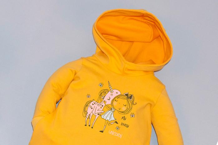 Rochie galbena cu gluga unicorn [1]