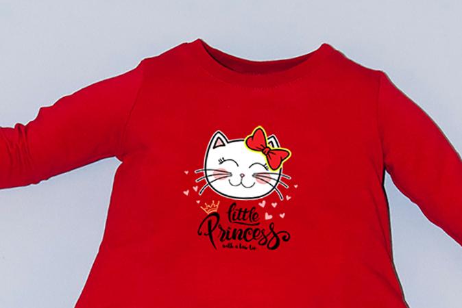 Rochie rosie cu buzunare - Little Princess 1