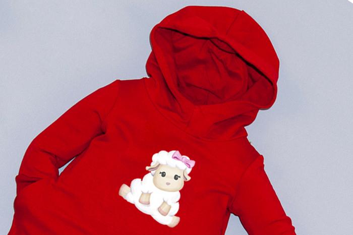 Rochie roșie cu glugă - Sweet Sheep 1
