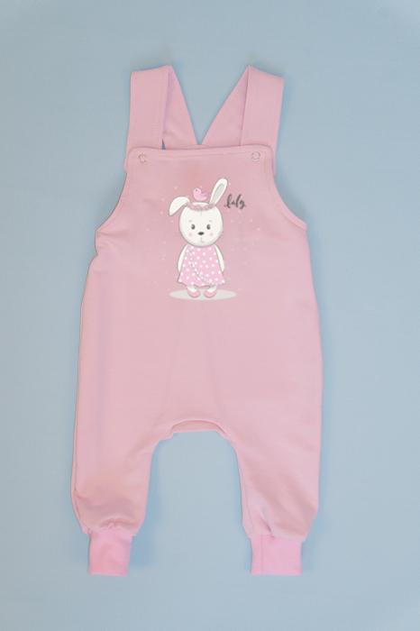 Salopeta Roz cu Bretele Baby Rabbit 0