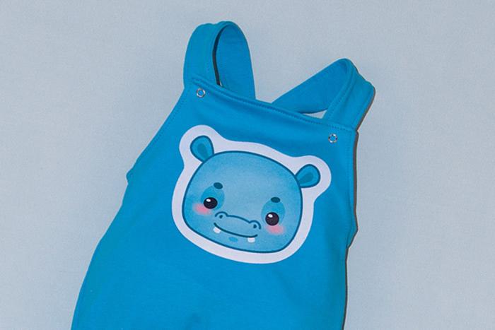 Salopeta Bleu cu Bretele Happy Hipo [1]