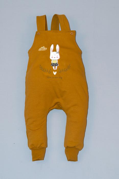 Salopeta Mustar cu Bretele Ballerina Bunny 0