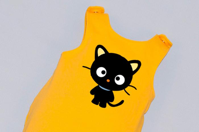 Salopeta Galbena capse pe umar Black Cat [1]
