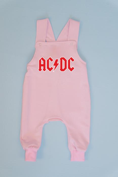 Salopeta Roz cu Bretele AC/DC 0