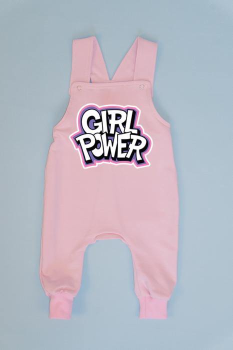 Salopeta Roz cu Bretele Girl power [0]
