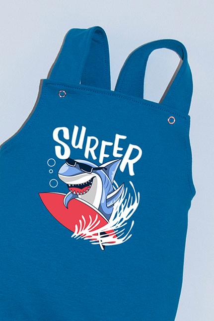 Salopeta Albastra cu Bretele Surfer Shark 1