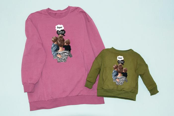 Set Bluze Oversize Super Mama - Mom of Boys [0]