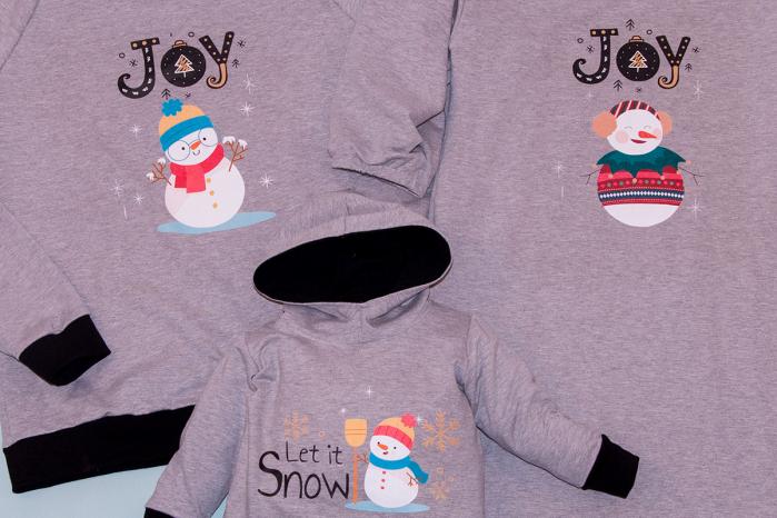 Set Snowman Family Gri 1