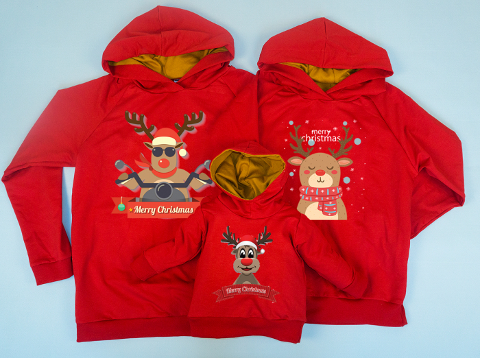 Set Cool Christmas Reindeer Family 0