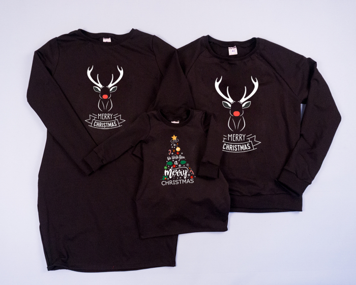 Set Christmas Reindeer Family 0