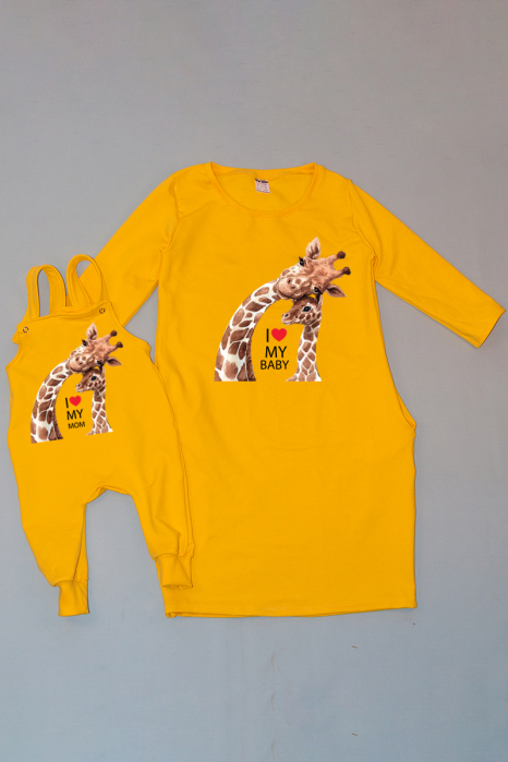 Set Familie - Giraffes Love 0
