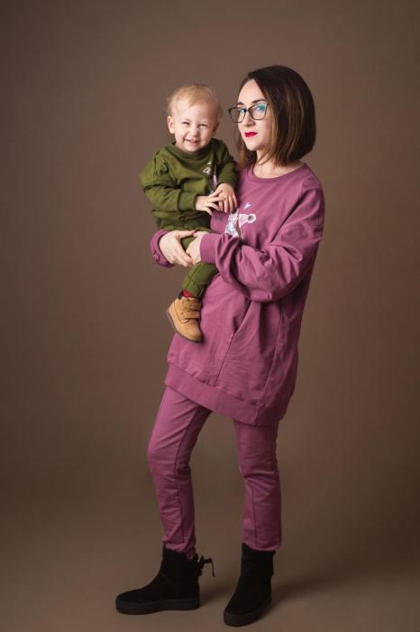 Set Trening Oversize Negru - Mama Fiu 1