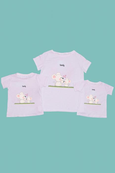 Set Tricouri mama - 2 copii Soricei [0]