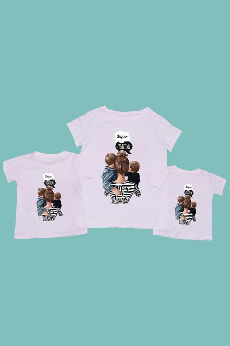Set Tricouri mama - 2 copii Mom of Boys [0]