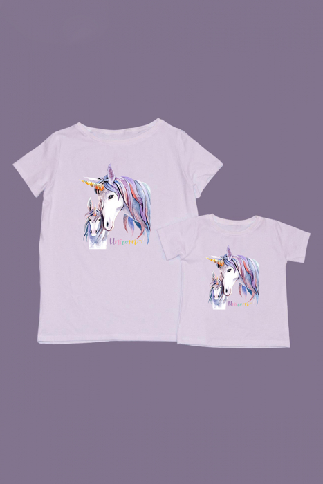 Set Tricouri Mama Copil Unicorni [0]