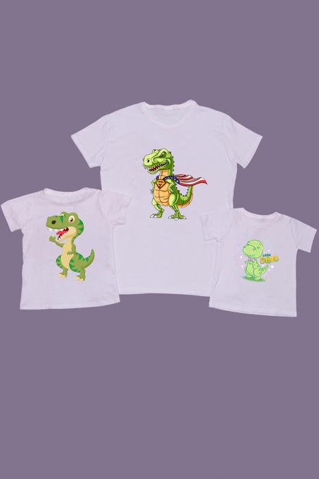 Set Tricouri Tata - 2 copii Dino Team [0]